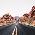 Arizona Roadway Sunset By Drone