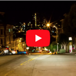 San Francisco Downtown Light Streaks | Timelapse Stock Footage