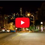 San Francisco Downtown Light Streaks | Timelapse Stock Footage