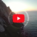 Morro Rock Ocean | Drone Stock Footage